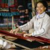Lady working on silk, Langbian Vietnam - Laetitia Botrel | Photography